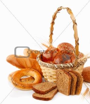 fresh bread in the basket