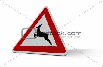 attention deer crossing