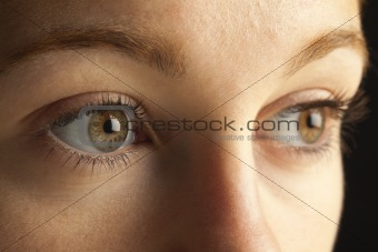Close up of closed woman's eyes