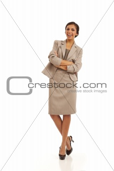 Portrait of young executive businesswoman
