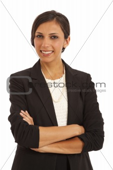 Portrait of confident young businesswoman with arms crossed
