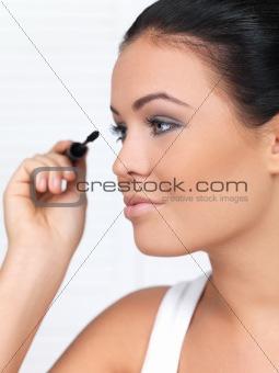 Beauty on black background