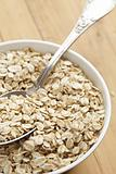 oatmeal on wooden table