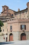 Panoramic view of Panicale. Umbria.