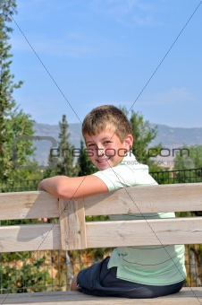 Boy on a bench