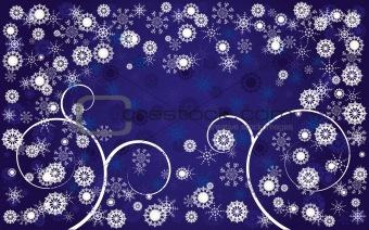 Blue christmas background 3