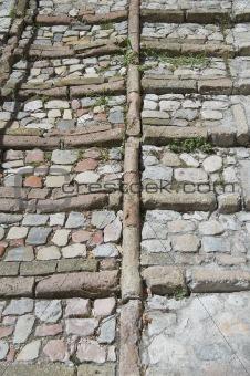Antique pavement. Spello. Umbria.