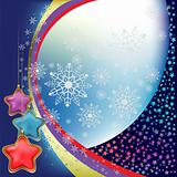 abstract christmas background with stars and snowflakes