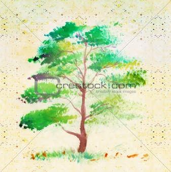 tree , very elegantly drawn