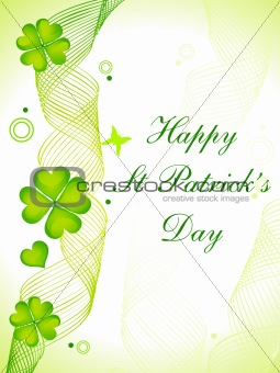 abstract st Patrick's day card
