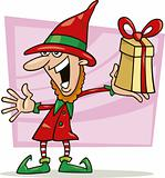 christmas elf with special gift