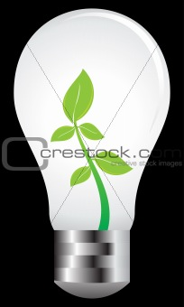 abstract eco bulb vector illustration