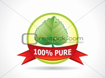 abstract eco icon with leaf