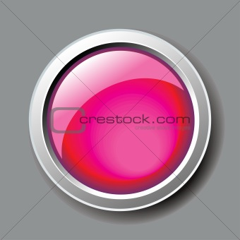 abstract shiny pink button