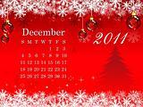 abstract december calendar