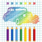 Rainbow manuscript car