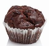 chocolate muffins isolated