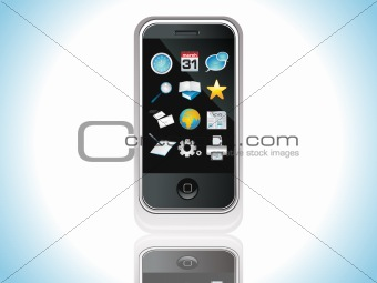 abstract mobile icon