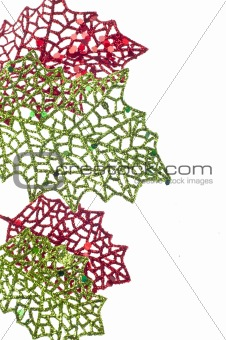 Abstract Leaf Holiday Background
