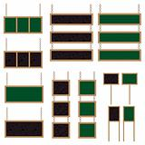 Green and black bulletin boards