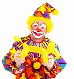 Happy Clown With Balloon Doggie