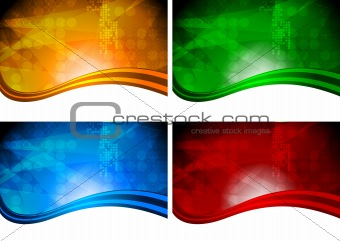 Four beautiful vibrant backdrops
