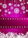 Christmas card with christmas snowflake. EPS 8