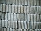 Gray concrete brick block