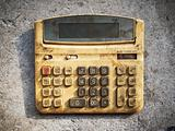 Dirty old calculator