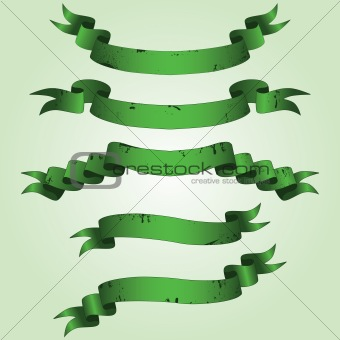 Old green banners