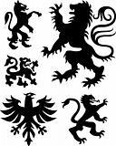 crest and eagle design