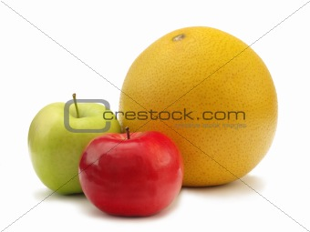 Apples and pomelo