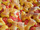 Bread dough Focaccia. Italian Food.