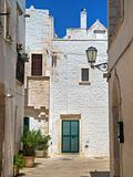 Alleyway. Locorotondo. Apulia.