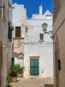 Alleyway. Locorotondo. Apulia.