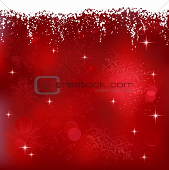 Abstract red winter, Christmas background