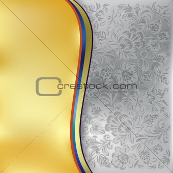 abstract background with grey floral ornament