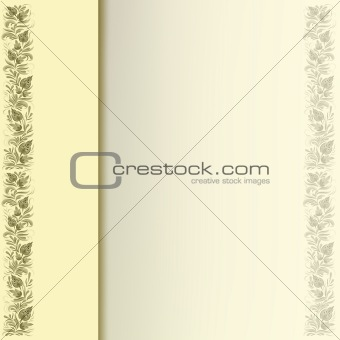 abstract floral ornament on a grey background