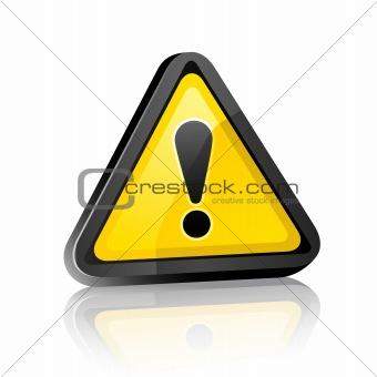 three-dimensional Hazard warning attention sign