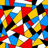 Linear mosaic seamless pattern.
