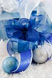 Shiny Blue and White Gifts