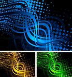 Colourful wavy backgrounds