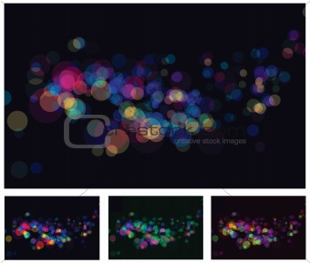 Abstract lights bokeh effects