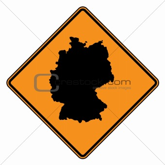 Germany map road sign