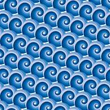 Seamless water wave pattern