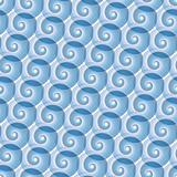 Seamless water wave pattern