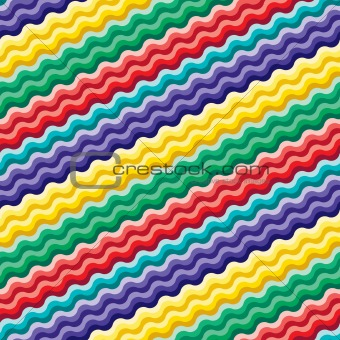 Seamless vivid wave pattern