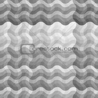 Seamless uncolored wave pattern