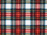 Full Frame Background of Red and Blue Plaid Fabric