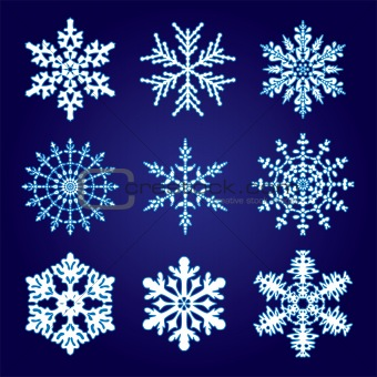 9 snowflakes